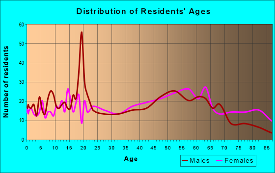Age and Sex of Residents in zip code 04619