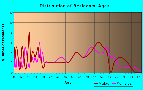 Age and Sex of Residents in zip code 04984