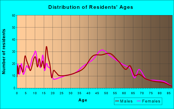 Age and Sex of Residents in zip code 08804