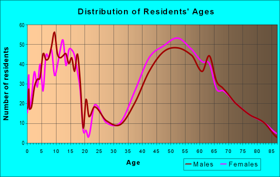 Age and Sex of Residents in zip code 10576