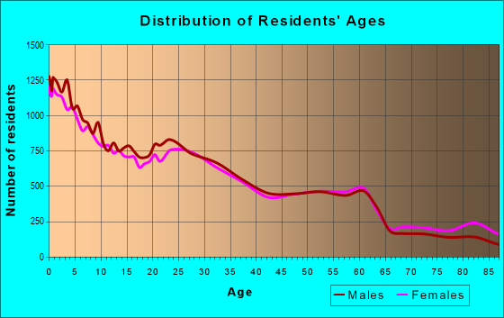 Age and Sex of Residents in zip code 11219