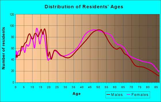 Age and Sex of Residents in zip code 11596