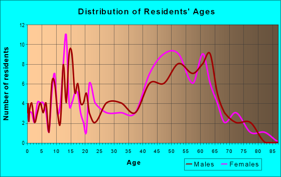 Age and Sex of Residents in zip code 12153