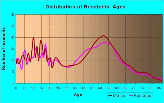 Age and Sex of Residents in zip code 12531
