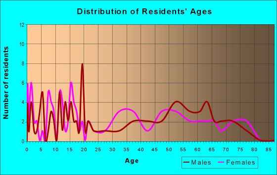 Age and Sex of Residents in zip code 12819