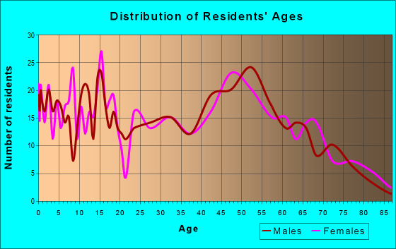 Age and Sex of Residents in zip code 13101