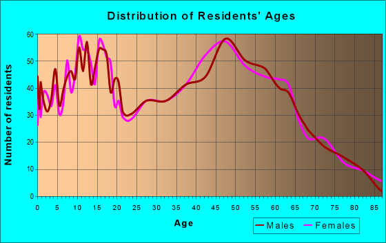 Age and Sex of Residents in zip code 13114