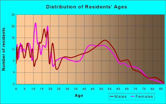 Age and Sex of Residents in zip code 13302