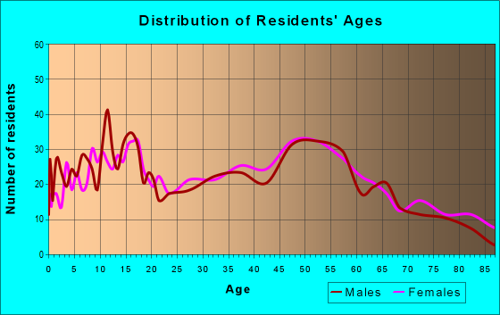 Age and Sex of Residents in zip code 13317