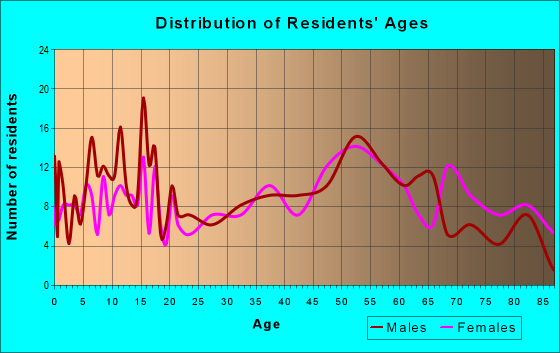 Age and Sex of Residents in zip code 13428