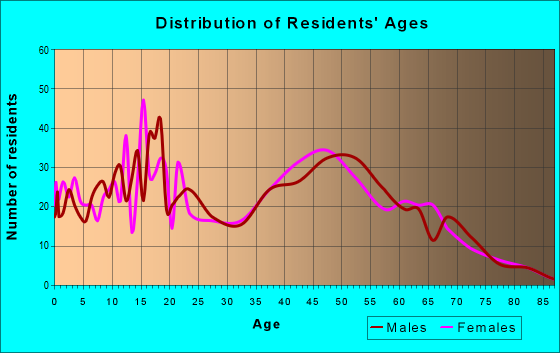 Age and Sex of Residents in zip code 13471