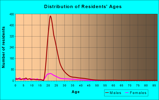 Age and Sex of Residents in zip code 13602