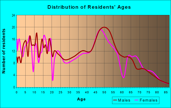 Age and Sex of Residents in zip code 13660