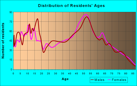 Age and Sex of Residents in zip code 13732