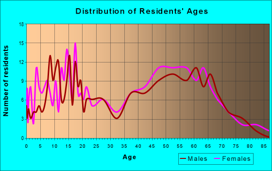 Age and Sex of Residents in zip code 13796