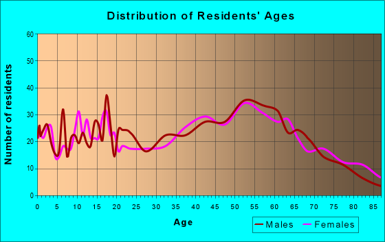 Age and Sex of Residents in zip code 15531