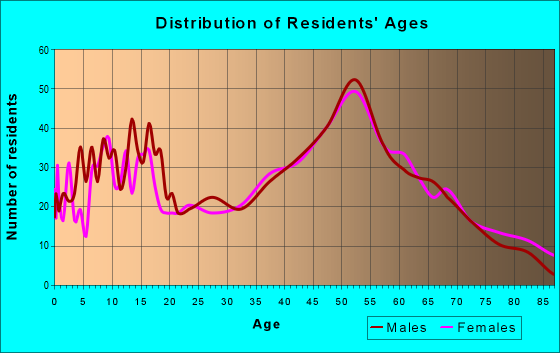 Age and Sex of Residents in zip code 16037