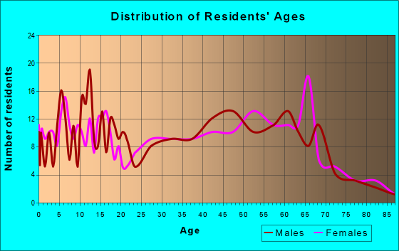 Age and Sex of Residents in zip code 16133