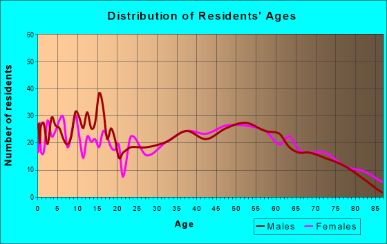 Age and Sex of Residents in zip code 17023