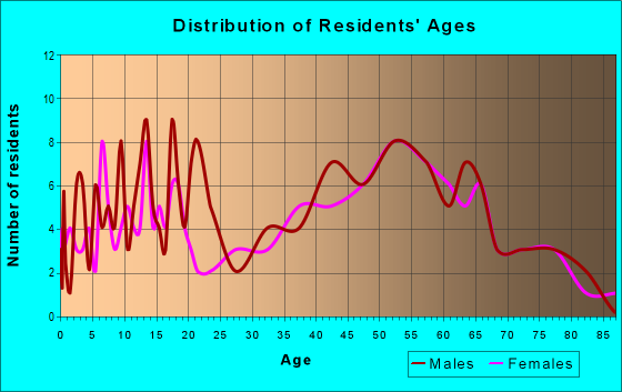 Age and Sex of Residents in zip code 17035