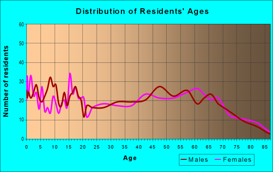 Age and Sex of Residents in zip code 17063
