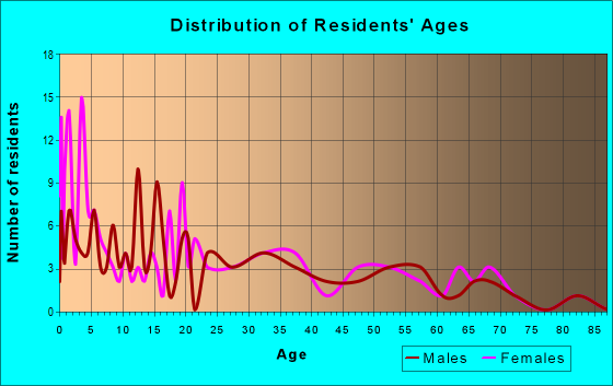 Age and Sex of Residents in zip code 17220