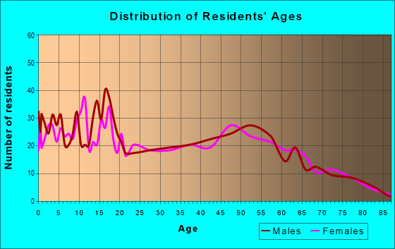 Age and Sex of Residents in zip code 17240