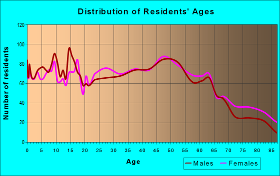 Age and Sex of Residents in zip code 17313