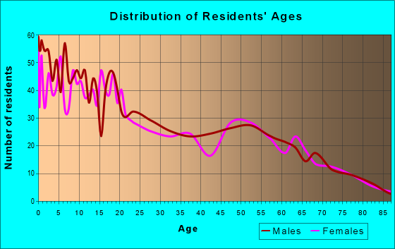 Age and Sex of Residents in zip code 17562