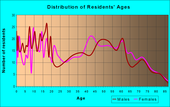Age and Sex of Residents in zip code 17772