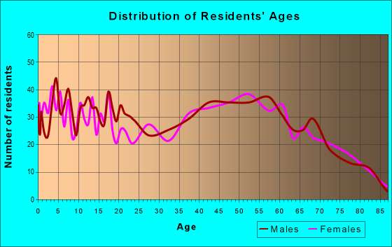 Age and Sex of Residents in zip code 17841