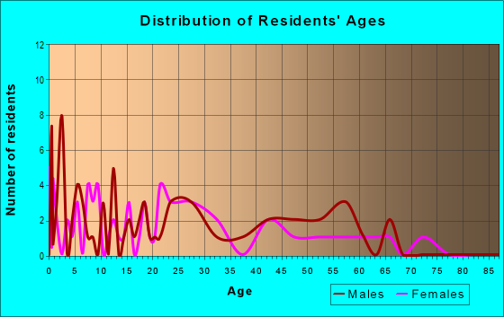Age and Sex of Residents in zip code 17884