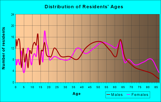 Age and Sex of Residents in zip code 17935