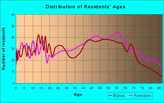 Age and Sex of Residents in zip code 18517