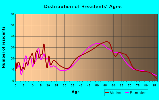 Age and Sex of Residents in zip code 18942