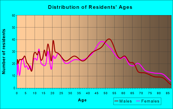 Age and Sex of Residents in zip code 19029