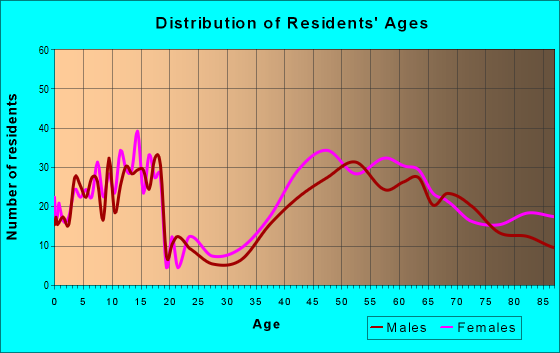 Age and Sex of Residents in zip code 19035