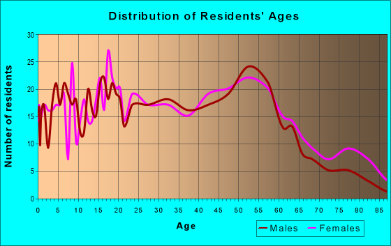 Age and Sex of Residents in zip code 19043