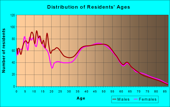 Age and Sex of Residents in zip code 19311