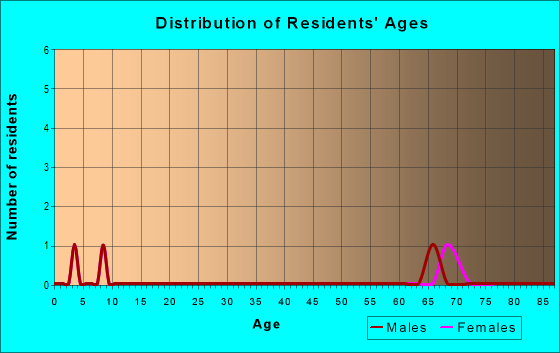 Age and Sex of Residents in zip code 19732