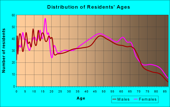 Age and Sex of Residents in zip code 19940