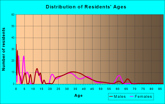 Age and Sex of Residents in zip code 20332