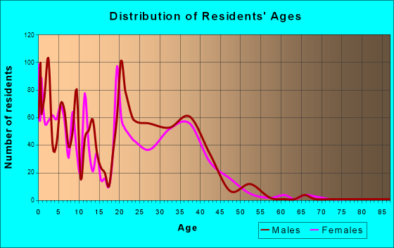 Age and Sex of Residents in zip code 20336