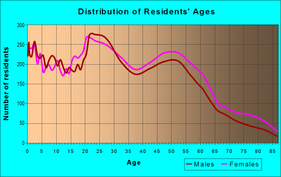 Age and Sex of Residents in zip code 23513