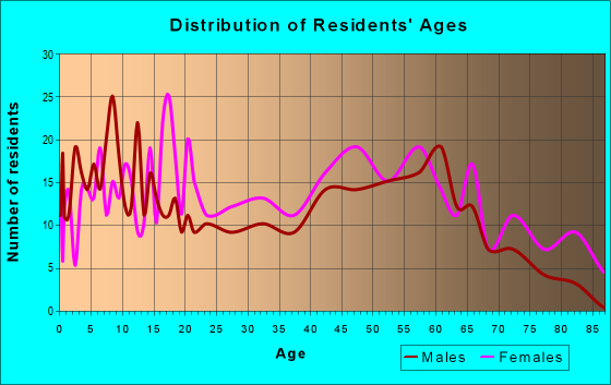 Age and Sex of Residents in zip code 23867