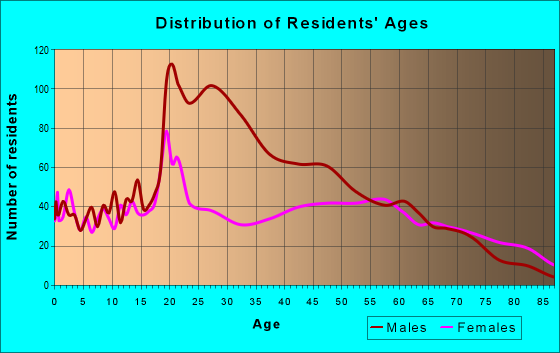Age and Sex of Residents in zip code 23868