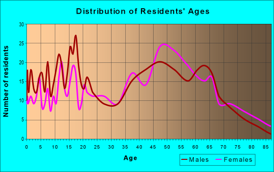 Age and Sex of Residents in zip code 23872