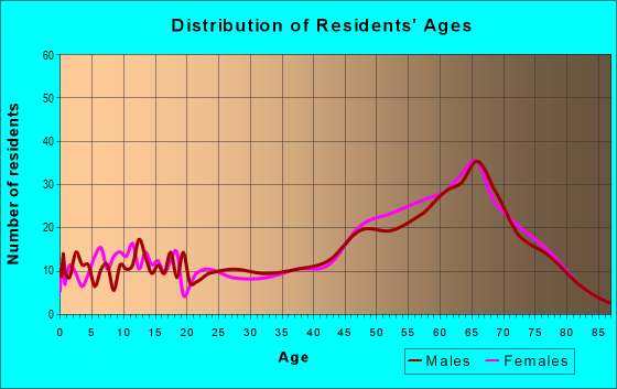 Age and Sex of Residents in zip code 23919