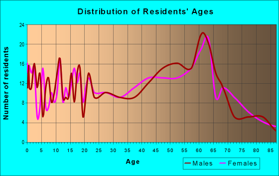 Age and Sex of Residents in zip code 23921
