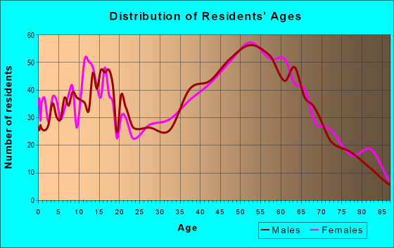 Age and Sex of Residents in zip code 24065